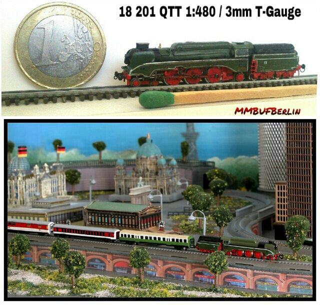 Najmanji vlakovi na svijetu: mjerilo T 18201inT-Gauge